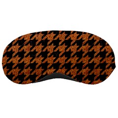 Houndstooth1 Black Marble & Rusted Metal Sleeping Masks