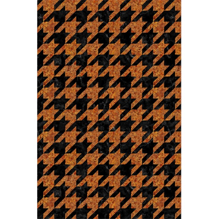 HOUNDSTOOTH1 BLACK MARBLE & RUSTED METAL 5.5  x 8.5  Notebooks