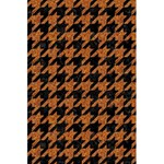 HOUNDSTOOTH1 BLACK MARBLE & RUSTED METAL 5.5  x 8.5  Notebooks Back Cover