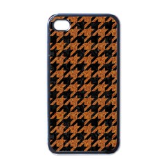 Houndstooth1 Black Marble & Rusted Metal Apple Iphone 4 Case (black) by trendistuff