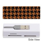 HOUNDSTOOTH1 BLACK MARBLE & RUSTED METAL Memory Card Reader (Stick)  Front