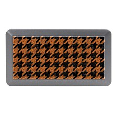 Houndstooth1 Black Marble & Rusted Metal Memory Card Reader (mini)