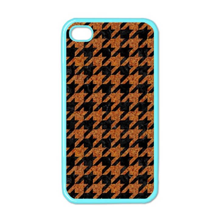 HOUNDSTOOTH1 BLACK MARBLE & RUSTED METAL Apple iPhone 4 Case (Color)