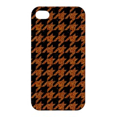 Houndstooth1 Black Marble & Rusted Metal Apple Iphone 4/4s Hardshell Case by trendistuff