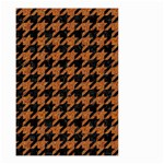 HOUNDSTOOTH1 BLACK MARBLE & RUSTED METAL Small Garden Flag (Two Sides) Back