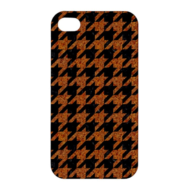 HOUNDSTOOTH1 BLACK MARBLE & RUSTED METAL Apple iPhone 4/4S Premium Hardshell Case