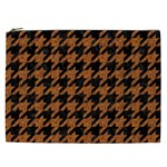 HOUNDSTOOTH1 BLACK MARBLE & RUSTED METAL Cosmetic Bag (XXL)  Front