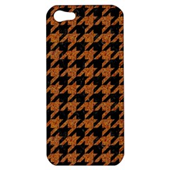 Houndstooth1 Black Marble & Rusted Metal Apple Iphone 5 Hardshell Case by trendistuff