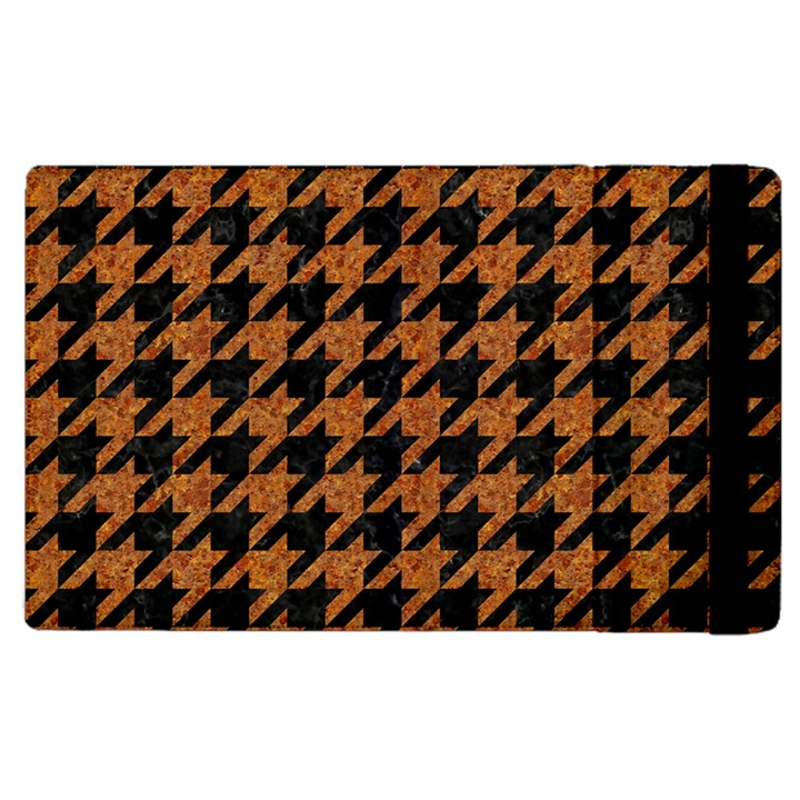 HOUNDSTOOTH1 BLACK MARBLE & RUSTED METAL Apple iPad 3/4 Flip Case