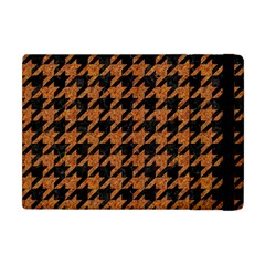 Houndstooth1 Black Marble & Rusted Metal Apple Ipad Mini Flip Case