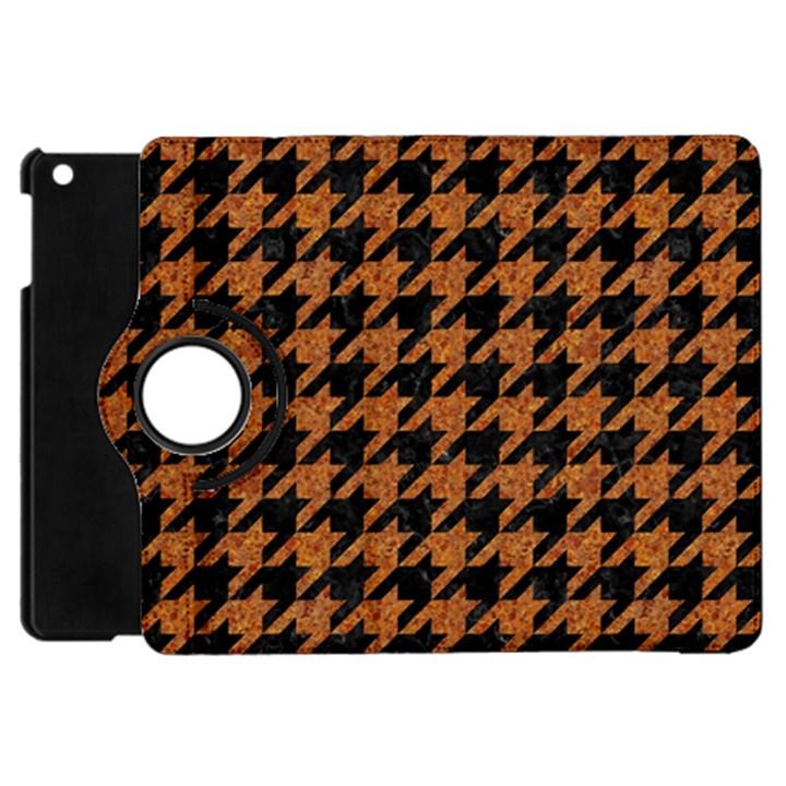 HOUNDSTOOTH1 BLACK MARBLE & RUSTED METAL Apple iPad Mini Flip 360 Case