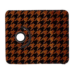 Houndstooth1 Black Marble & Rusted Metal Galaxy S3 (flip/folio)