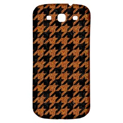 Houndstooth1 Black Marble & Rusted Metal Samsung Galaxy S3 S Iii Classic Hardshell Back Case by trendistuff