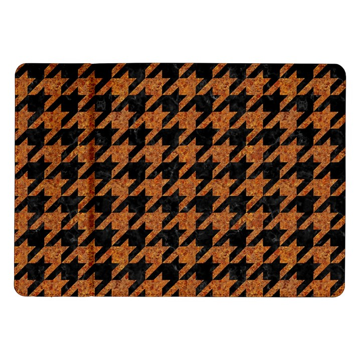 HOUNDSTOOTH1 BLACK MARBLE & RUSTED METAL Samsung Galaxy Tab 10.1  P7500 Flip Case