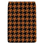 HOUNDSTOOTH1 BLACK MARBLE & RUSTED METAL Flap Covers (L)  Front