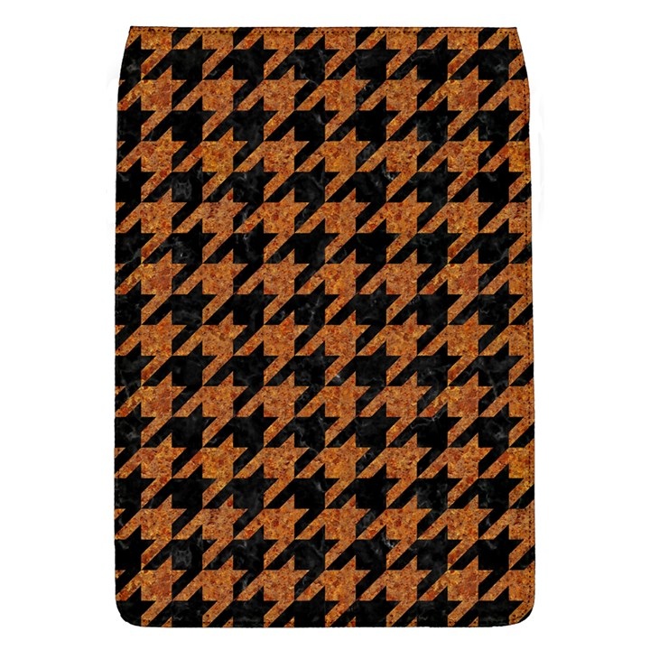 HOUNDSTOOTH1 BLACK MARBLE & RUSTED METAL Flap Covers (L)