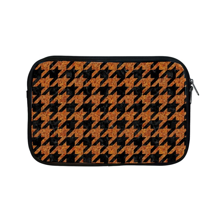 HOUNDSTOOTH1 BLACK MARBLE & RUSTED METAL Apple iPad Mini Zipper Cases
