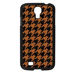 Houndstooth1 Black Marble & Rusted Metal Samsung Galaxy S4 I9500/ I9505 Case (black) by trendistuff