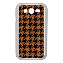 Houndstooth1 Black Marble & Rusted Metal Samsung Galaxy Grand Duos I9082 Case (white) by trendistuff