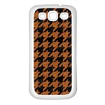 HOUNDSTOOTH1 BLACK MARBLE & RUSTED METAL Samsung Galaxy S3 Back Case (White) Front