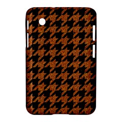 Houndstooth1 Black Marble & Rusted Metal Samsung Galaxy Tab 2 (7 ) P3100 Hardshell Case  by trendistuff