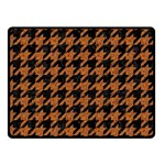 HOUNDSTOOTH1 BLACK MARBLE & RUSTED METAL Double Sided Fleece Blanket (Small)  45 x34 Blanket Back