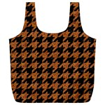 HOUNDSTOOTH1 BLACK MARBLE & RUSTED METAL Full Print Recycle Bags (L)  Back