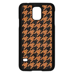 Houndstooth1 Black Marble & Rusted Metal Samsung Galaxy S5 Case (black) by trendistuff