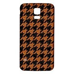 Houndstooth1 Black Marble & Rusted Metal Samsung Galaxy S5 Back Case (white) by trendistuff