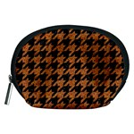 HOUNDSTOOTH1 BLACK MARBLE & RUSTED METAL Accessory Pouches (Medium)  Front