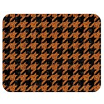 HOUNDSTOOTH1 BLACK MARBLE & RUSTED METAL Double Sided Flano Blanket (Medium)  60 x50 Blanket Front