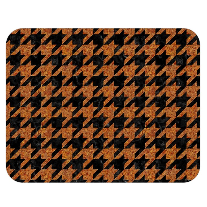 HOUNDSTOOTH1 BLACK MARBLE & RUSTED METAL Double Sided Flano Blanket (Medium)