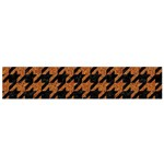 HOUNDSTOOTH1 BLACK MARBLE & RUSTED METAL Flano Scarf (Small) Back