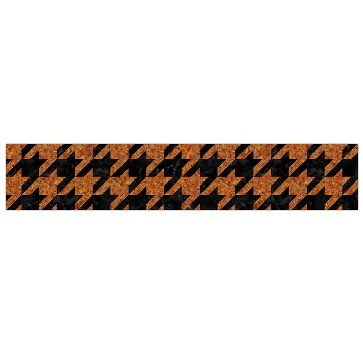 HOUNDSTOOTH1 BLACK MARBLE & RUSTED METAL Flano Scarf (Large)