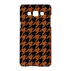 Houndstooth1 Black Marble & Rusted Metal Samsung Galaxy A5 Hardshell Case  by trendistuff