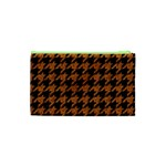 HOUNDSTOOTH1 BLACK MARBLE & RUSTED METAL Cosmetic Bag (XS) Back