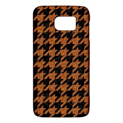 Houndstooth1 Black Marble & Rusted Metal Galaxy S6 by trendistuff