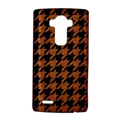 Houndstooth1 Black Marble & Rusted Metal Lg G4 Hardshell Case by trendistuff