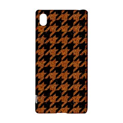Houndstooth1 Black Marble & Rusted Metal Sony Xperia Z3+ by trendistuff