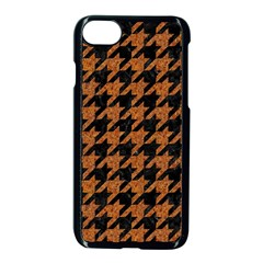 Houndstooth1 Black Marble & Rusted Metal Apple Iphone 7 Seamless Case (black) by trendistuff