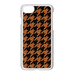 Houndstooth1 Black Marble & Rusted Metal Apple Iphone 7 Seamless Case (white) by trendistuff