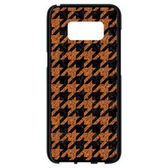 Houndstooth1 Black Marble & Rusted Metal Samsung Galaxy S8 Black Seamless Case by trendistuff