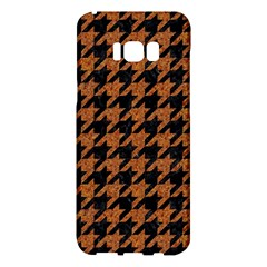 Houndstooth1 Black Marble & Rusted Metal Samsung Galaxy S8 Plus Hardshell Case  by trendistuff