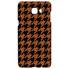 Houndstooth1 Black Marble & Rusted Metal Samsung C9 Pro Hardshell Case  by trendistuff