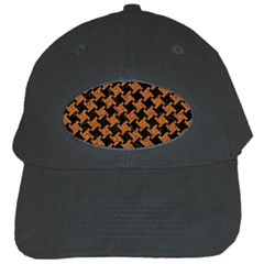 Houndstooth2 Black Marble & Rusted Metal Black Cap