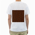 HOUNDSTOOTH2 BLACK MARBLE & RUSTED METAL Men s T-Shirt (White) (Two Sided) Back