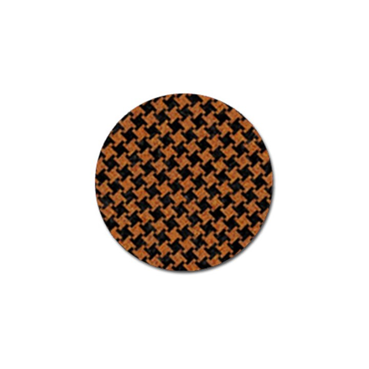 HOUNDSTOOTH2 BLACK MARBLE & RUSTED METAL Golf Ball Marker
