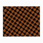 HOUNDSTOOTH2 BLACK MARBLE & RUSTED METAL Small Glasses Cloth Front