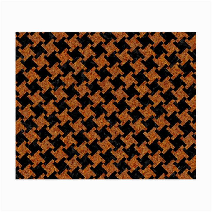 HOUNDSTOOTH2 BLACK MARBLE & RUSTED METAL Small Glasses Cloth