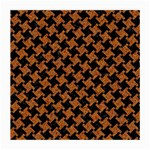 HOUNDSTOOTH2 BLACK MARBLE & RUSTED METAL Medium Glasses Cloth (2-Side) Front